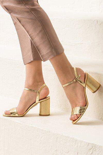 SYLVIAA Gold Kombin Kadın Sandalet