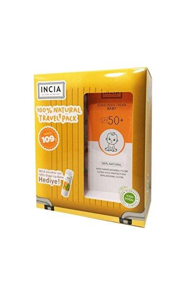 Bebek Için Doğal Güneş Kremi Spf 50 100 Ml - Lip Balm Dudak Besleyici Portakal 6 Gr Hediye