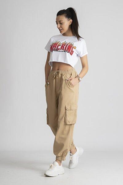 Kadın Ekstra Bol Kargo Pantolon
