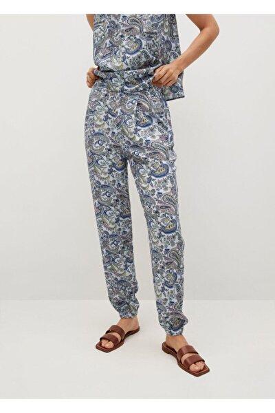 Kadın Paisley Desenli Pantolon