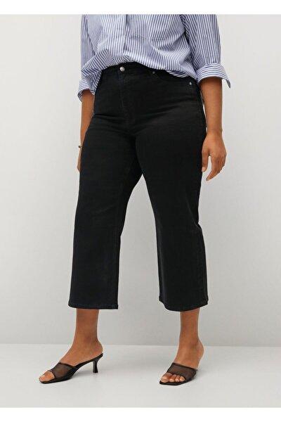 Kadın Siyah Normal Bel Culotte Jean