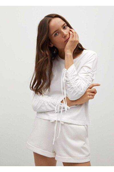 Fırfırlı Uzun Kollu Tişört