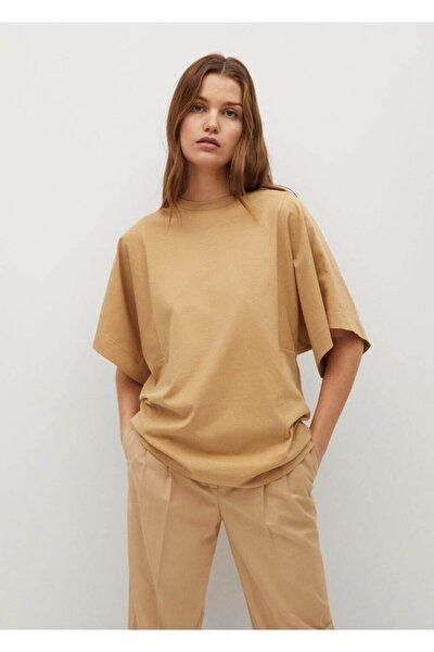 Kadın Geniş Kesimli Organik Pamuklu  T-shirt