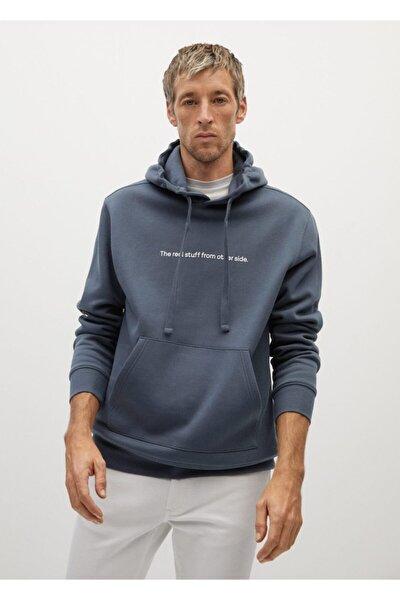 Organik Pamuklu Yazılı Sweatshirt