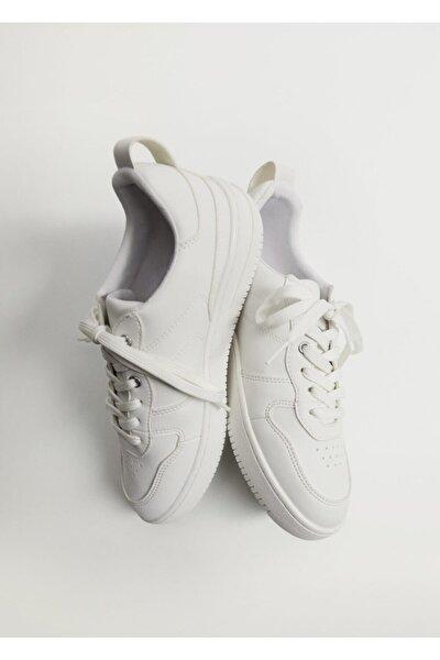 Kadın Beyaz Platformlu Spor Ayakkabı