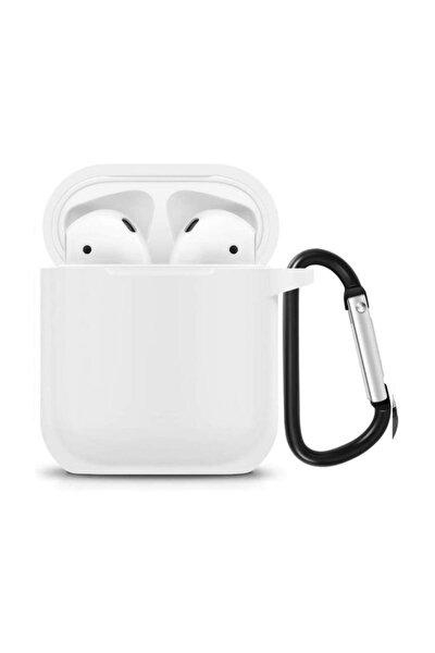 Apple Airpods Kılıf Silikon ( Beyaz )