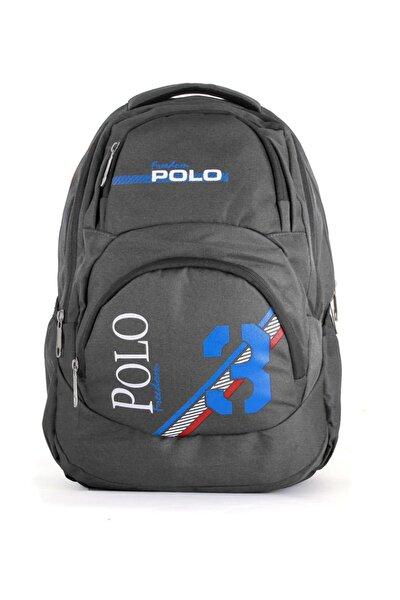 Polo Unisex Okul Sırt Çantası Koyu Gri 9002