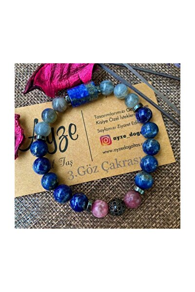 Lapis Lazuli , Lepidolit Ve Labradorit Bileklik