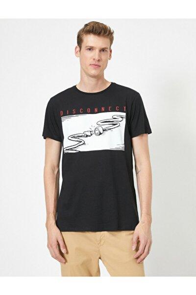 Erkek Siyah T-Shirt 0YAM11792LK