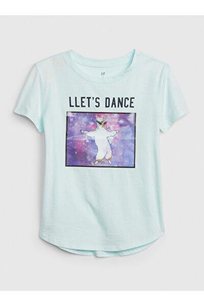 Kız Çocuk Interaktif Grafik T-Shirt
