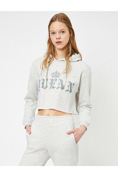Kadın Gri Sweatshirt 0YAL68518OK