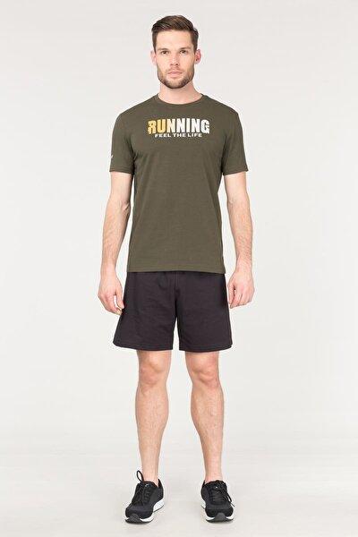 Yeşil Pamuklu Erkek T-Shirt FS-1681