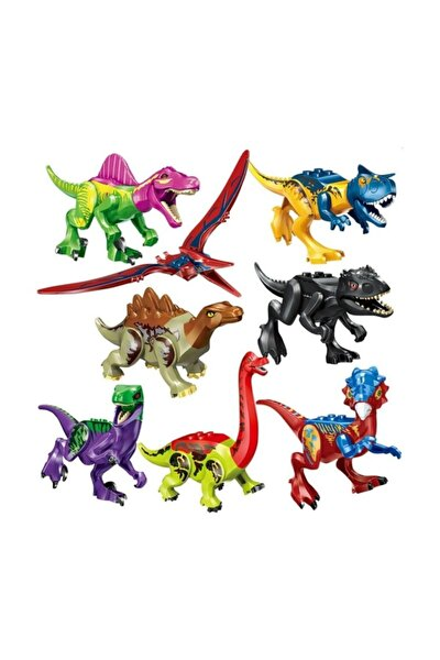 8 Adet Lego Uyumlu Dinozor Seti