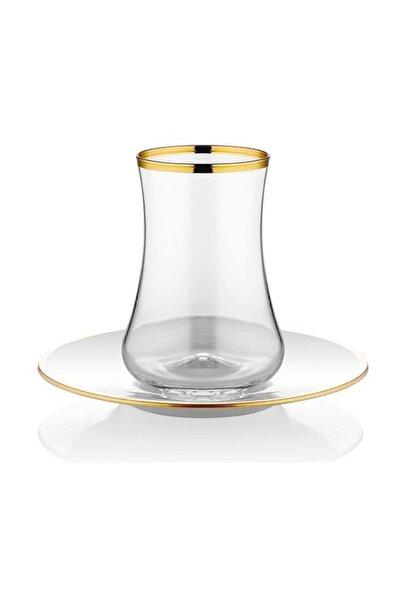 Dervish Çay Seti 6'lı Parlak Altın Şeffaf