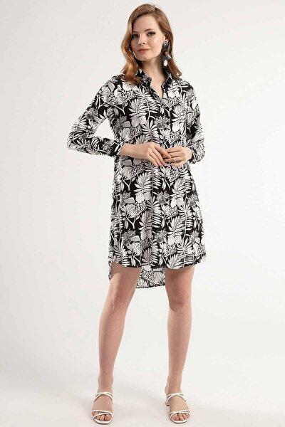 Kadın Çiçekli Mini Elbise Y20s110-5792