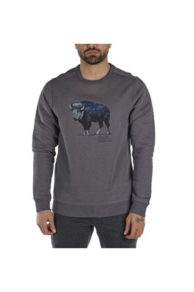 Erkek Gri Check The Buffalo Bugasweat Crew Iı Sweatshirt