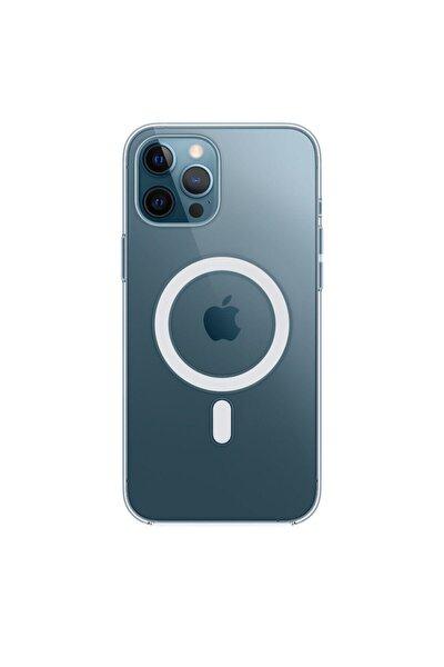 Iphone 12 Pro Max Için Magsafe Özellikli Şeffaf Kılıf