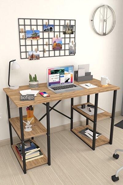 60x120 Cm 4 Raflı Çalışma Masası Bilgisayar Masası Ofis Ders Yemek Masası Çam