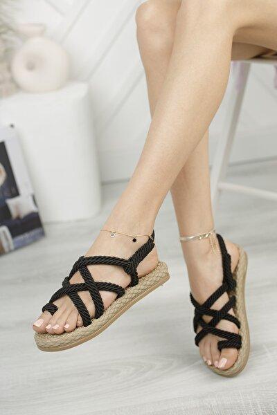 Rymw614 Kadın Hasır Sandalet Hediye