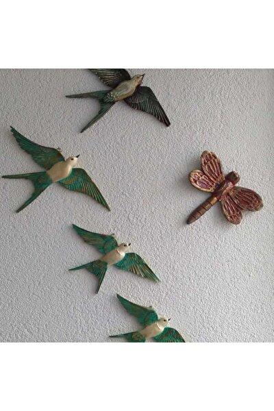 Dekoratif Modern Dörtlü Kuş Duvar Süsüyeni Duvar Dekoru