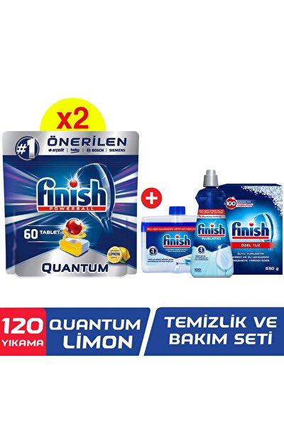 Quantum 120 Tablet Bulaşık Makinesi Deterjanı Limon (60x2) + Temizlik Ve Bakım Seti