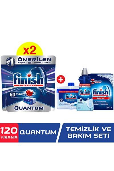 Quantum 120 Tablet Bulaşık Makinesi Deterjanı (60x2) +temizlik Ve Bakım Seti