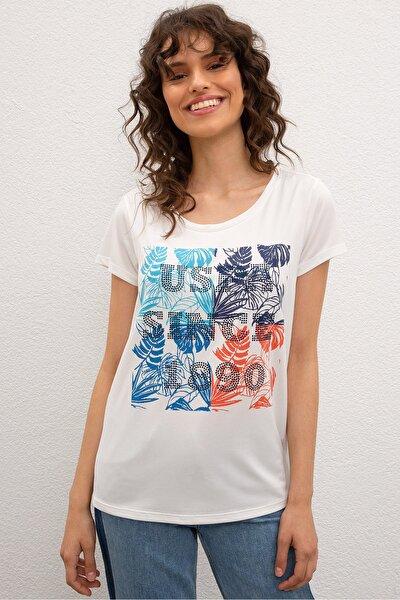 Kirmizi Kadin T-Shirt