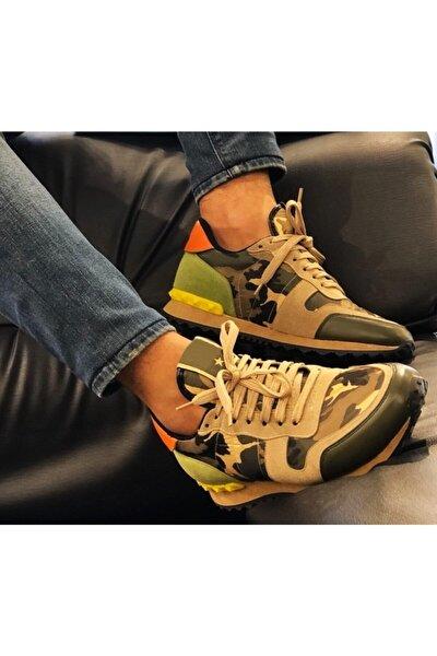 Erkek Askeri Kamuflaj Sneaker