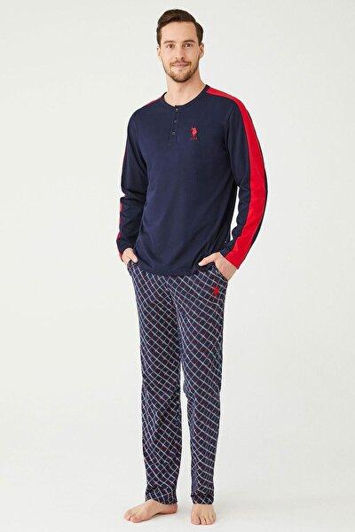 Erkek Lacivert Patlı Pijama Takım