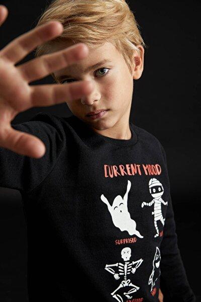 Erkek Çocuk Hayalet Baskılı Sweatshirt