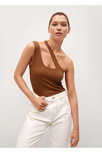 Kadın Asimetrik Tasarımlı Üst Bluz