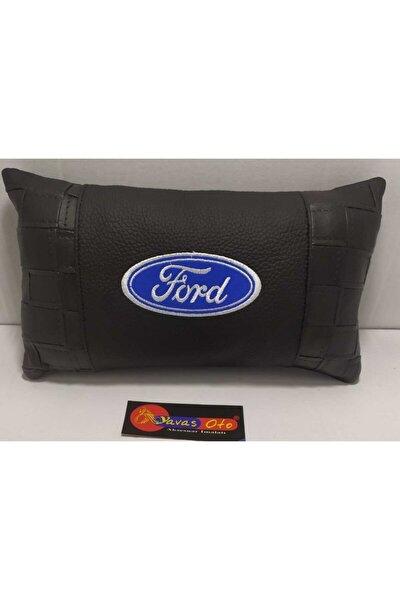Oto Boyun Yastığı Deri Ford Logolu 1 Takım 2 Adet