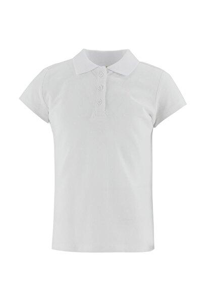 Kız Çocuk Polo Yaka Basic Tişört
