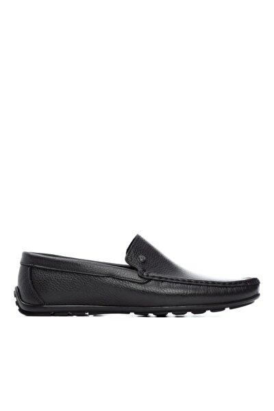 Erkek Siyah Derı Drıver Ayakkabı 733 2125 Erk Ayk Y21
