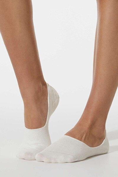 2 Çift Pamuklu Görünmez Çorap