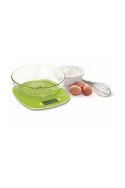Yeşil Dijital Mutfak Terazisi Kase Kabı Hassas Tartı Kks-1151