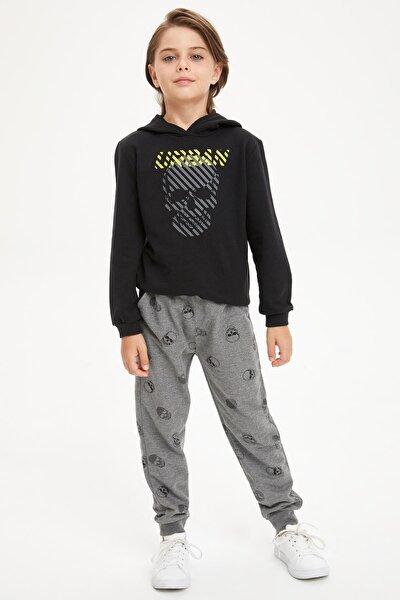 Erkek Çocuk Baskılı Sweatshirt Ve Eşofman Takım