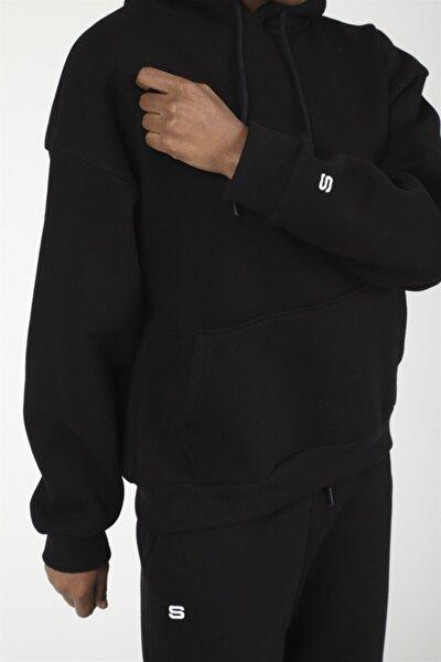 Siyah Basic Oversize Eşofman Altı