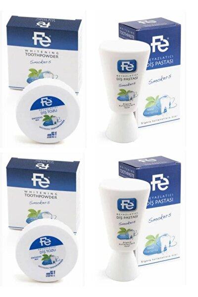 Beyazlatıcı Diş Pastası Smokers (sigara Kullananlaraözel)nane 90gr 2 Adet& Diş Tozu 50gr 2 Adet
