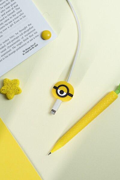 Silikonlu Minions Kablo Koruyucu