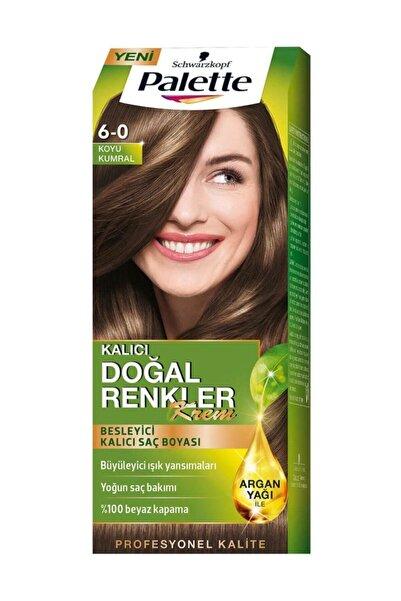 Kalıcı Doğal Renkler 6-0 Koyu Kumral Saç Boyası