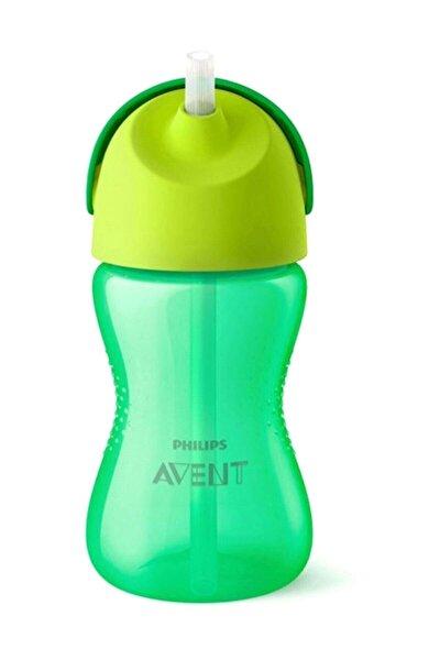 Yeşil Pipetli Bardak 300 ml