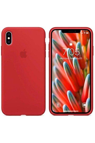 Iphone X Xs Lansman Logolu Içi Kadife Renkli Silikon Kılıf