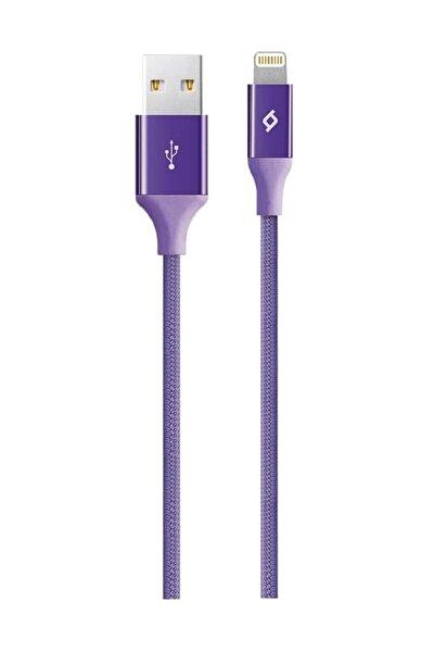 Mor Alumicable Iphone Uyumlu Şarj Kablosu Hızlı Şarj 120 cm