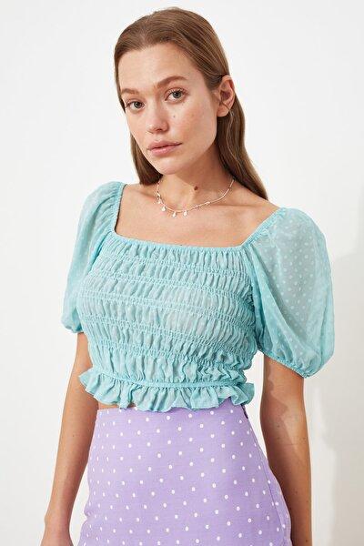 Mint Omuz Detaylı Bluz TWOSS20BZ1140
