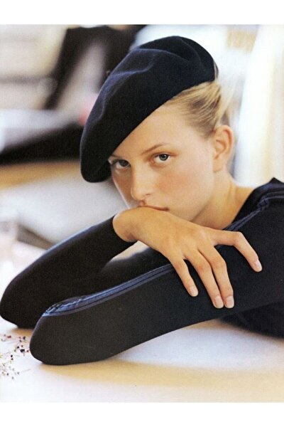 Kadın Siyah Ressam Beresi Fransız Şapka