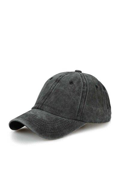 Düz Eskitme Şapka / Kep