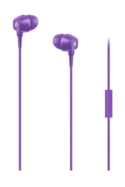 Pop Mikrofonlu Kulakiçi Kablolu Kulaklık - Mor
