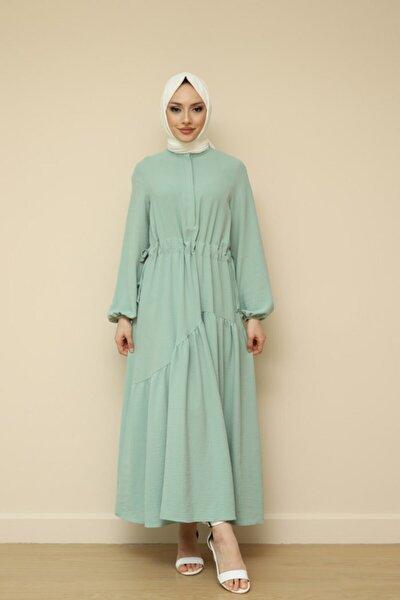 Kumaş Fırfırlı Elbise