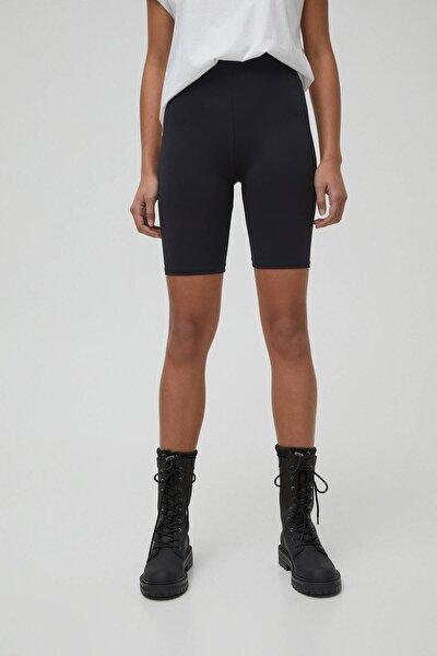 Kadın Siyah Siyah Basic Bisikletçi Taytı 05690313